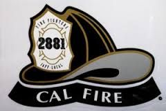 CAL Fire Helmet Sticker - BLACK