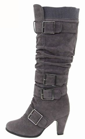 """Gray boot. On my Christmas wish list! They're only $32.60, AND get an extra 10% off & FREE shipping, with discount code """"0209"""" at checkout!"""
