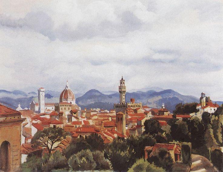 """Florence"" by Zinaida Serebriakova, Completion Date: 1949."