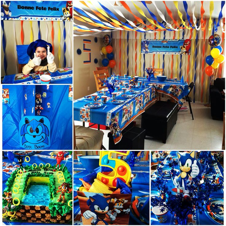 Birthday party decoration Sonic Boom the Hedgehog