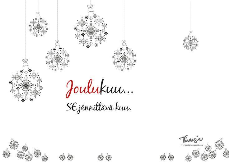 Joulukuun ilmainen tulostettava seinäkalenteri. Free calendar template (December 2015). #virtasia #kalenteri #ilmainen #calendar #free #template http://virtasia.blogspot.fi/2015/11/joulukuun-tulostettava-seinakalenteri.html