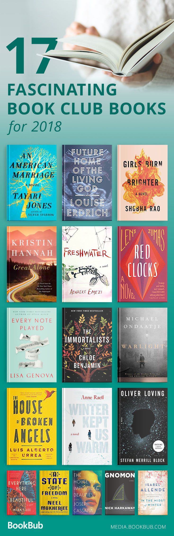 17 fascinating book club books recommended for women, men, and even teens. Check out these fiction books for your 2018 reading list.