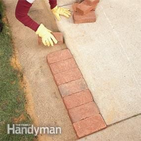 Use Brick Borders for Path Edging - Step by Step: The Family Handyman