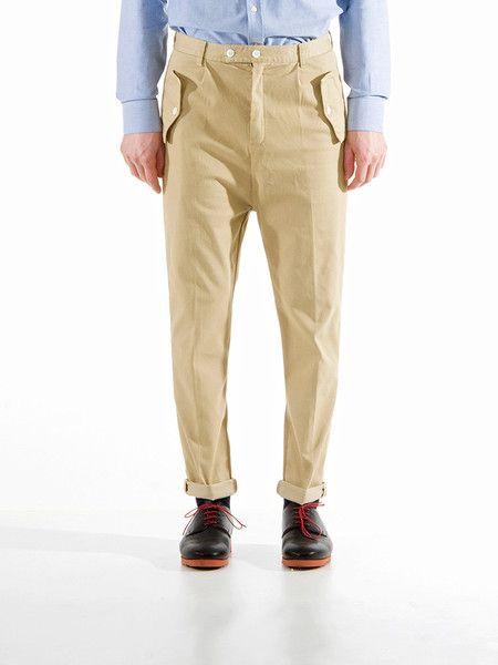 Camo Trousers | Beige Garment Dye