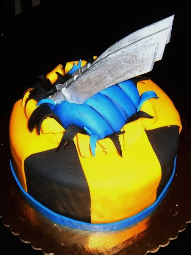 Wolverine cake....So Cool!