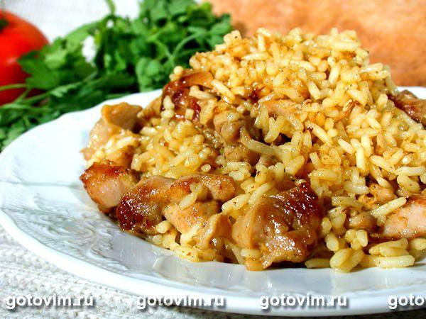 Рис с курицей и кари