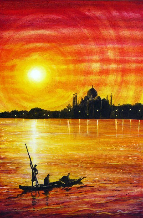 Indian Sunset by Ann Marie Bone