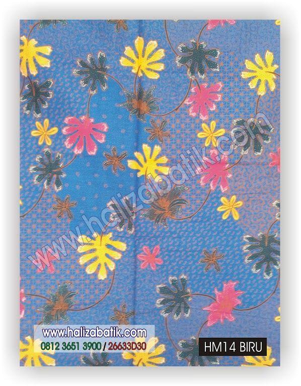 Kode : HM14 BIRU  Produk : Unggul Jaya Harga Eceran : Rp. 60.000,- Harga Grosir : Rp. 55.000,- Harga Kodian : - Ukuran: 2 Meter (+/-220cm x 115cm) Keterangan : Kain batik pekalongan. Bahan dasar katun primisima. Warna dasar biru. Motif batik daun.