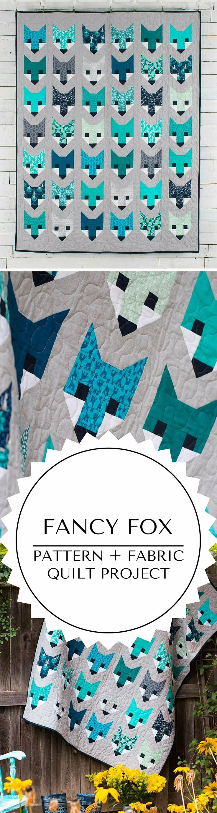 Fancy Fox quilt kit quilting project