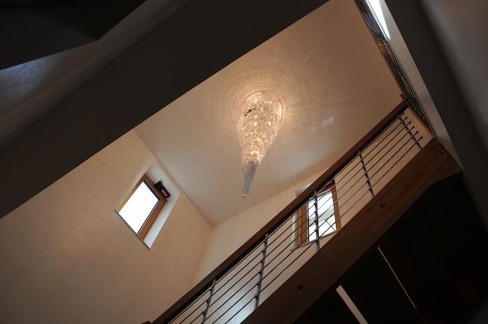ingresso illuminato lampadario swarovsky