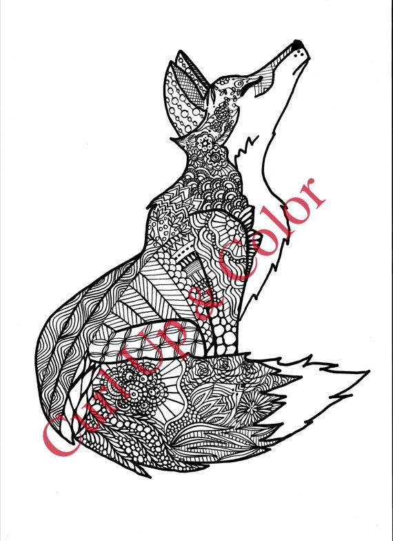 kearney womans zentangle coloring book stems from her doodling tendencies - Fox Coloring Book