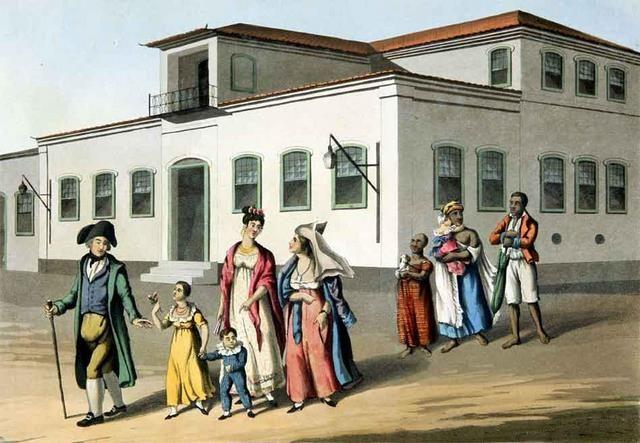 Uma Família Brasileira, Rio de Janeiro, 1822, Henry Chamberlain