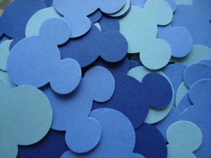 100 Mickey Mouse Confetti In Blue Tones For Birthday Party Baby Shower Wedding Favors