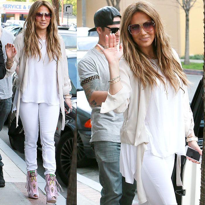 Jennifer Lopez leaving the Power 106 FM studios in Los Angeles, California, on March 5, 2014