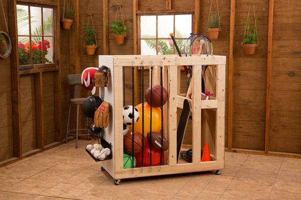Hey guys! We've got a great storage organization project for you today! With lots of kiddos, we have lots of toys in our garages! We got together with our friends at Ryobi to provide you guys (and us) with a great, easy and multi-functional storage cart to get those toys off the garage floor! From {...Read More...}