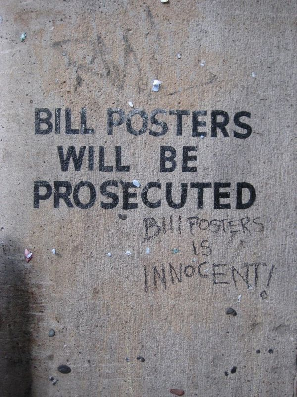 Bill Posters is innocent. I've said this for years...