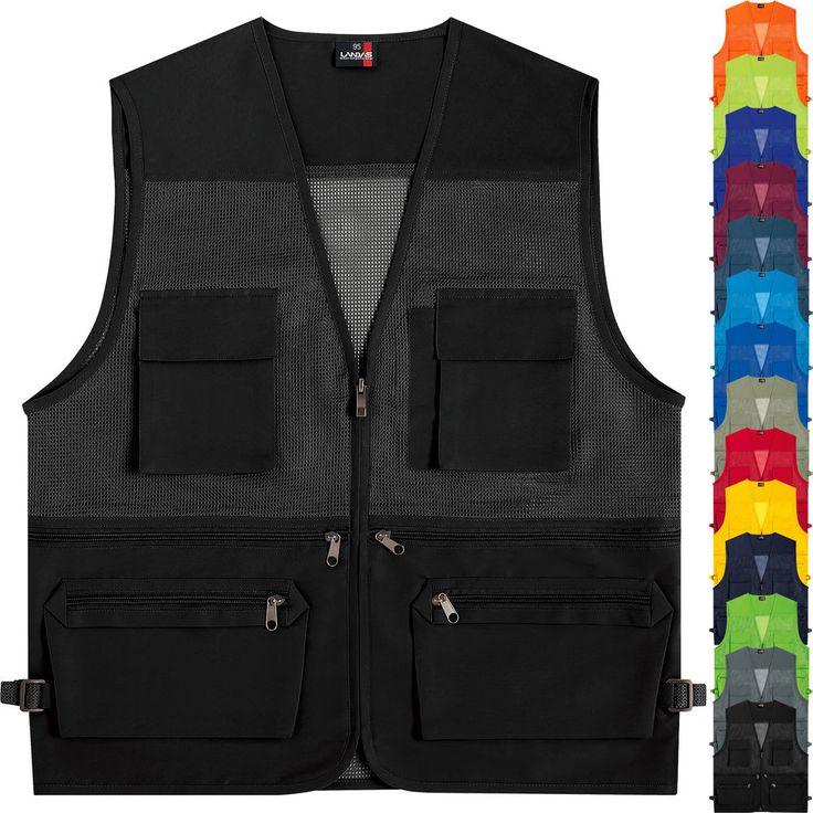 Multi Pockets Mesh Vest Sleeveless Fishing Hunting Sport Travel Work Waistcoat #hellobincom