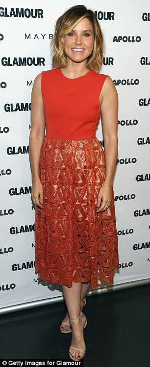 Twice as nice: Sophia Bush stunned in two different ensembles as she made promotional appearances in New York City on Tuesday