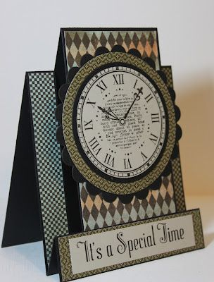 I love this clock card. Very striking
