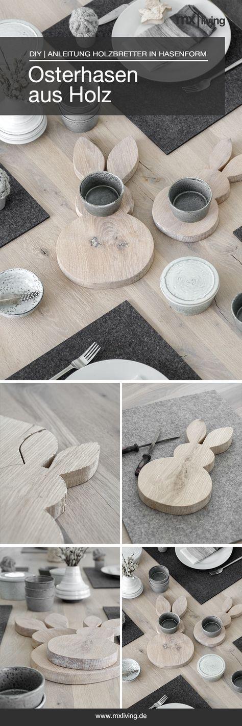 DIY | Osterhasen aus Holz Vorlage Osterhase 3