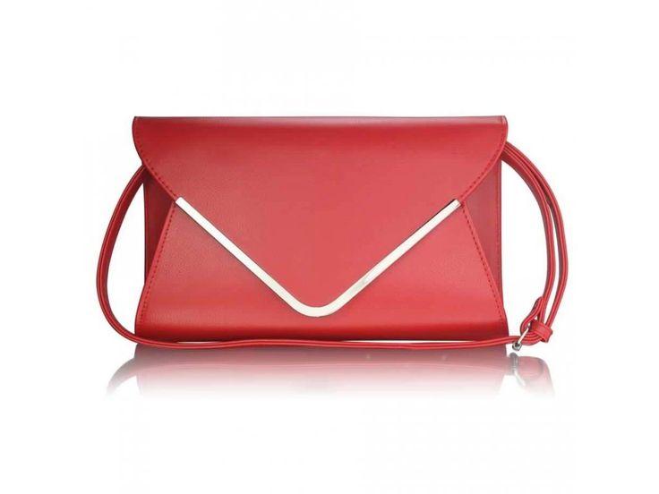 Červená listová kabelka Arin LSE00166A