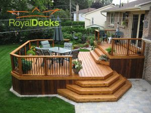 planning a deck for our backyard... like this one!