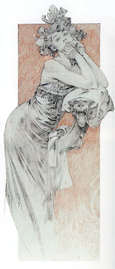 Illustration by Alfons Mucha (1860 - 1939).