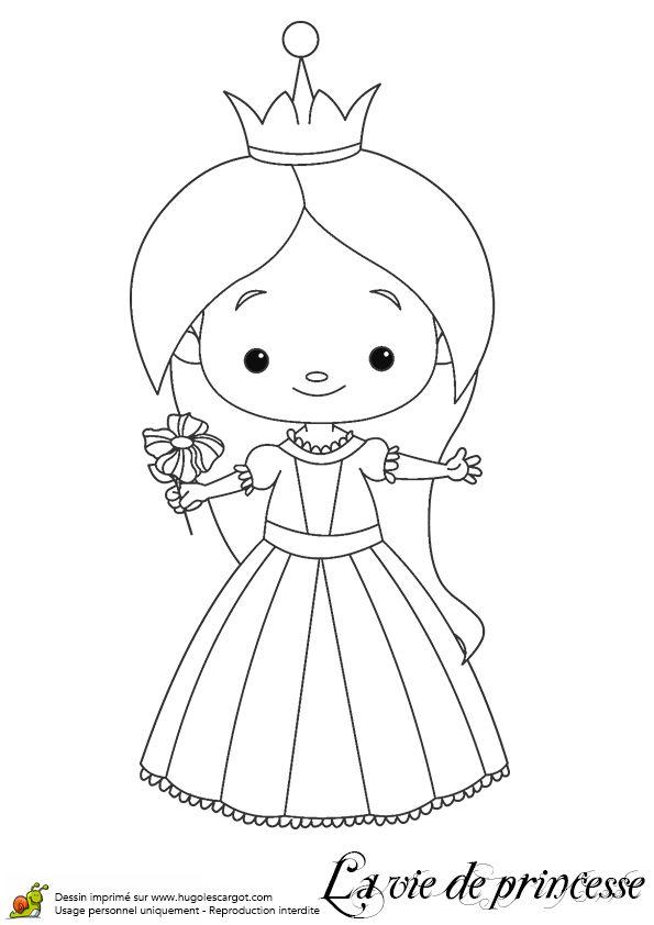 Les 108 meilleures images du tableau coloriage de princesses sur pinterest coloriage de - Princesse dessin facile ...