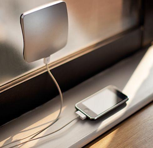 Solar charging gadget