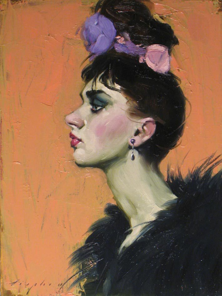 """""""Covered In Flowers"""", Malcolm Liepke."""