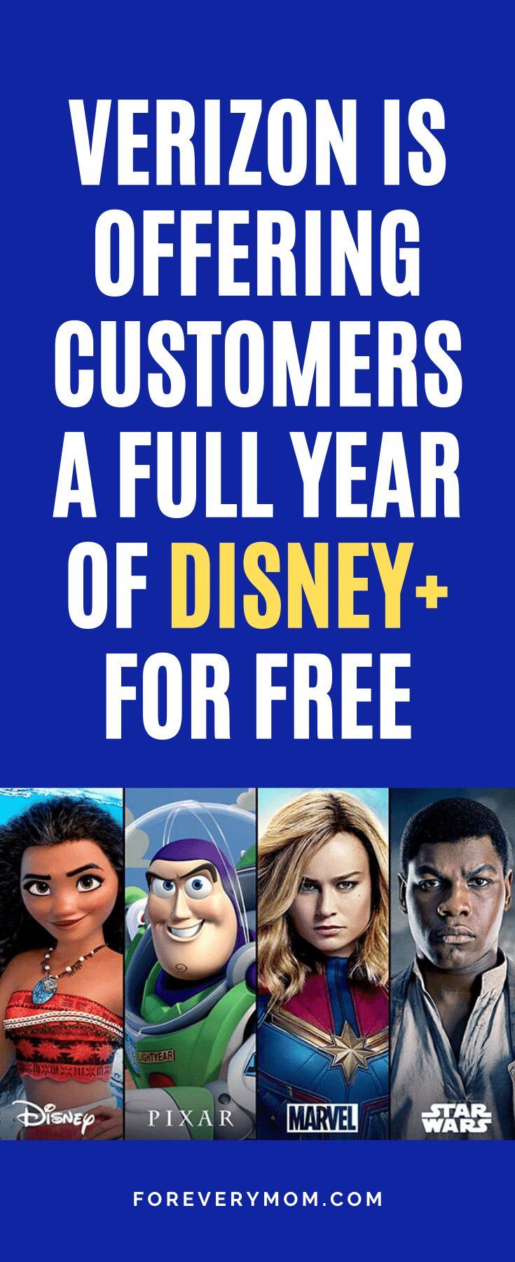 Verizon is Offering Customers a Full Year of Disney+ For