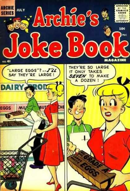 Of course Jughead would work at a grocery store.