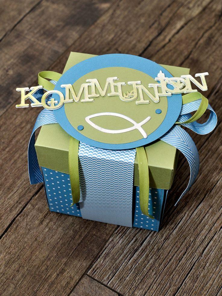 Explosionsbox zur kommunion hochzeit kommunion konfirmation stampin up pinterest - Geldgeschenke jugendweihe selber basteln ...