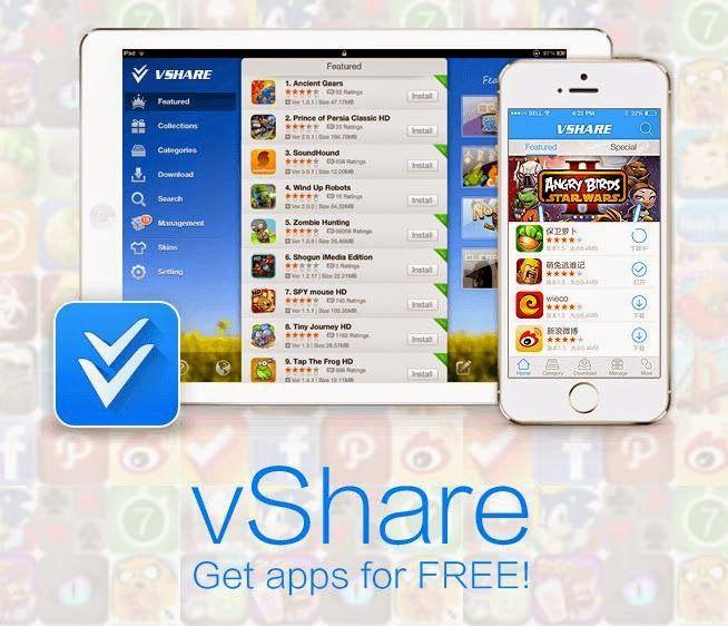 Vshare ile Jailbreak Olmadan ücretli uygulamaları indirmek #iphone #apple #jailbreak
