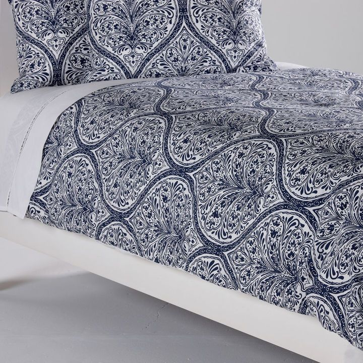 Ethan Allen Danika Printed Duvet Cover Navy Home And
