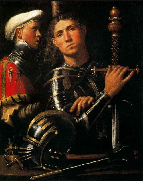 Giorgione: Warrior With Groom (1505-10)