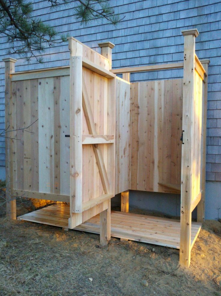 Outdoor Shower Stalls | hundreds of custom outdoor showers many styles and options to choose ...