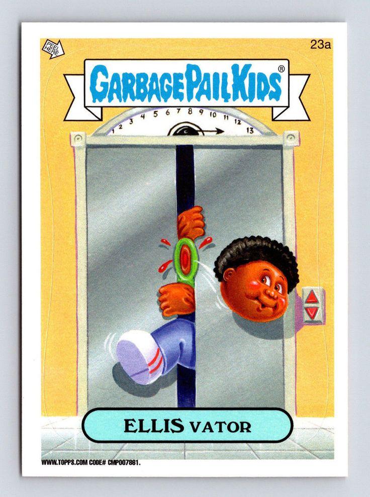 Garbage Pail Kids 23a Ellis Vator 2014 Series 1 Topps Trading Card Sticker Garbage Pail Kids Garbage Pail Kids Cards Pail