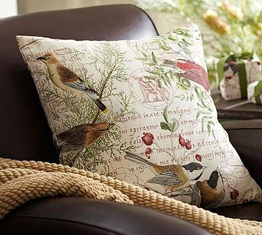 winter bird pillow cover find some pretty fabric and make slipcovers for pillows
