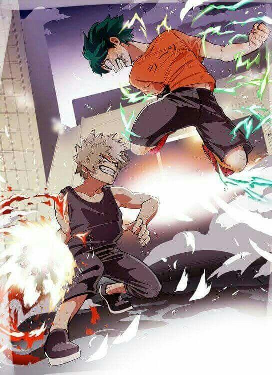 Bakugou e Midoriya | Boku no hero academia ❤❤ | Bakugou, Arte