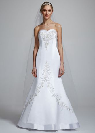 Fancy David us Bridal Wedding Dress Satin Mermaid Gown with Sweetheart Neckline Style