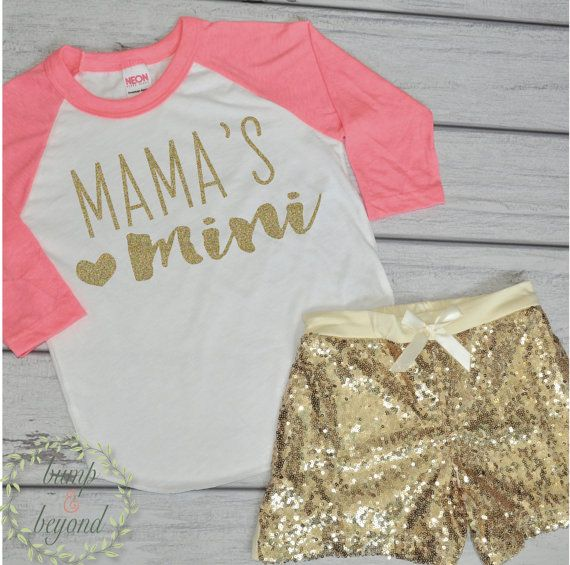 Mama's Mini Baby Girl Outfit Toddler Fashion Trendy Baby Girl Clothes Girl…