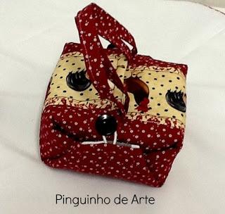 Pinguinho de Arte: PAP porta marmita que vira jogo americano