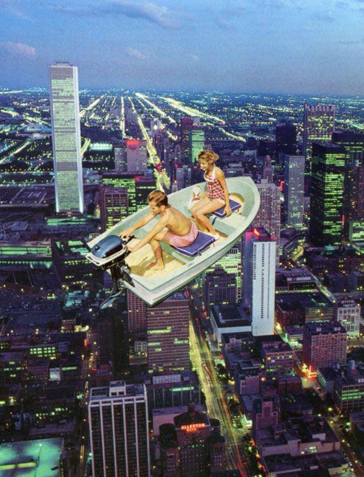 ' Above & beyond 'Original paper collage by Sammy Slabbinck