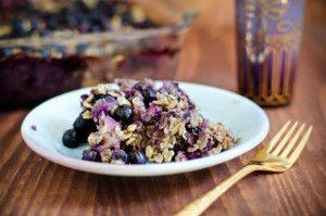 Baked Oatmeal, gluten free breakfast recipe, gluten free breakfast idea, baked oatmeal with blueberries