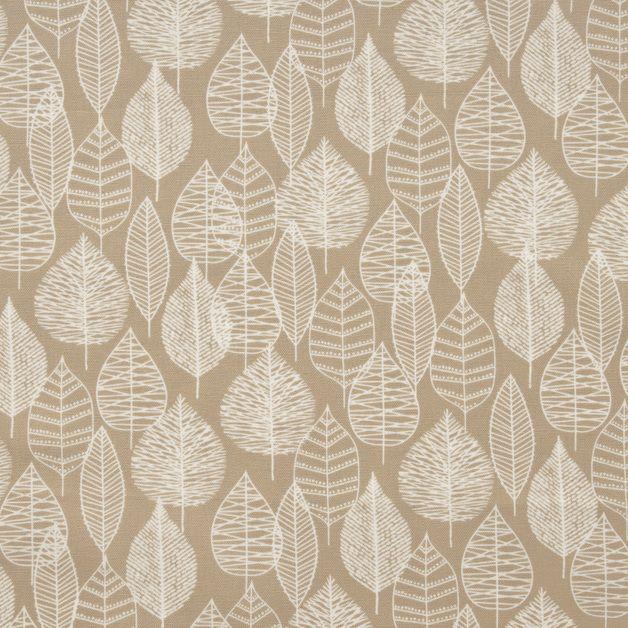 Stoff afrikanisch - Bio-Canvas - weiße Blätter auf beige (16-007) - ein Designerstück von DasBlaueTuch bei DaWanda