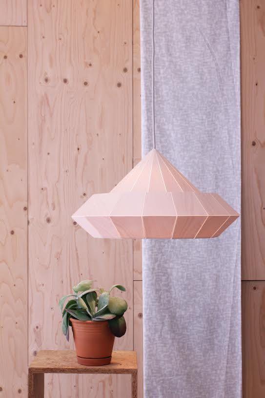 NEW: Woodpecker lamp from birch wood veneer | by Studio Snowpuppe