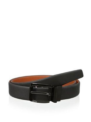 48% OFF Ike Behar Men's Textured Reversible Belt (Grey/Orange)