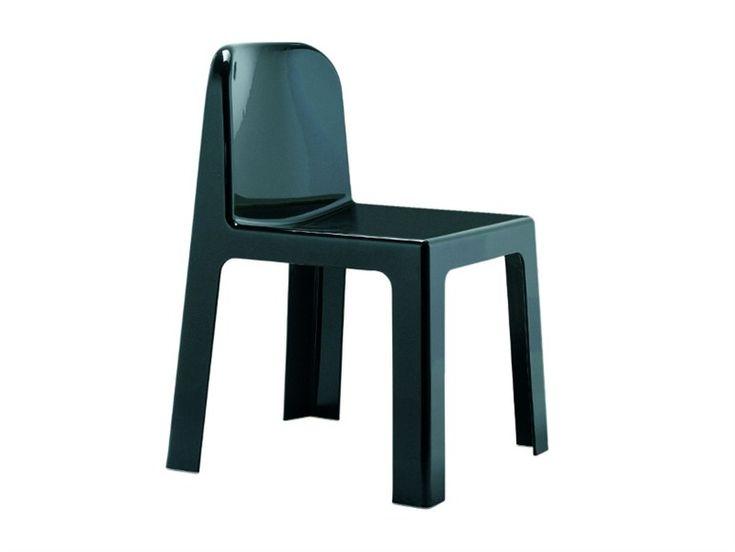 Stackable technopolymer chair TRONO by Segis   design Sottsass Associati