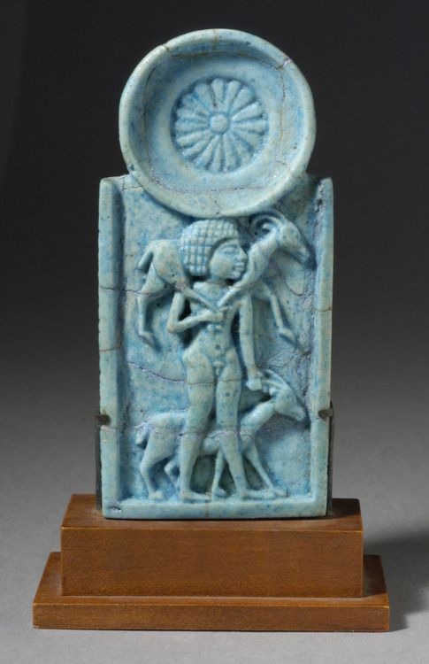 Faience Cosmetic Spoon, 5 in high (13 cm) Egypt, Late Period, 712-332 B.C. Source: LACMA